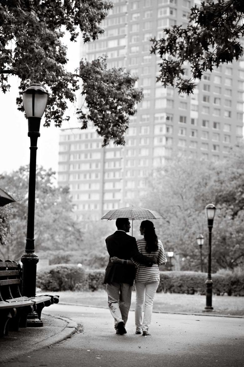 battery park engagement photos
