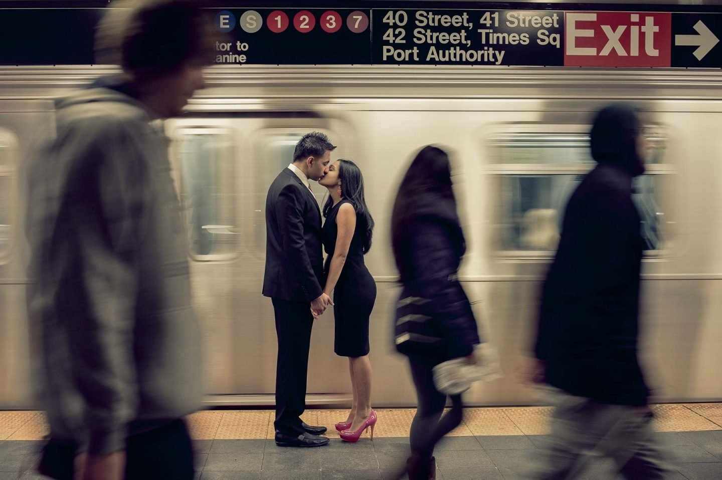 Subway Engagement Session