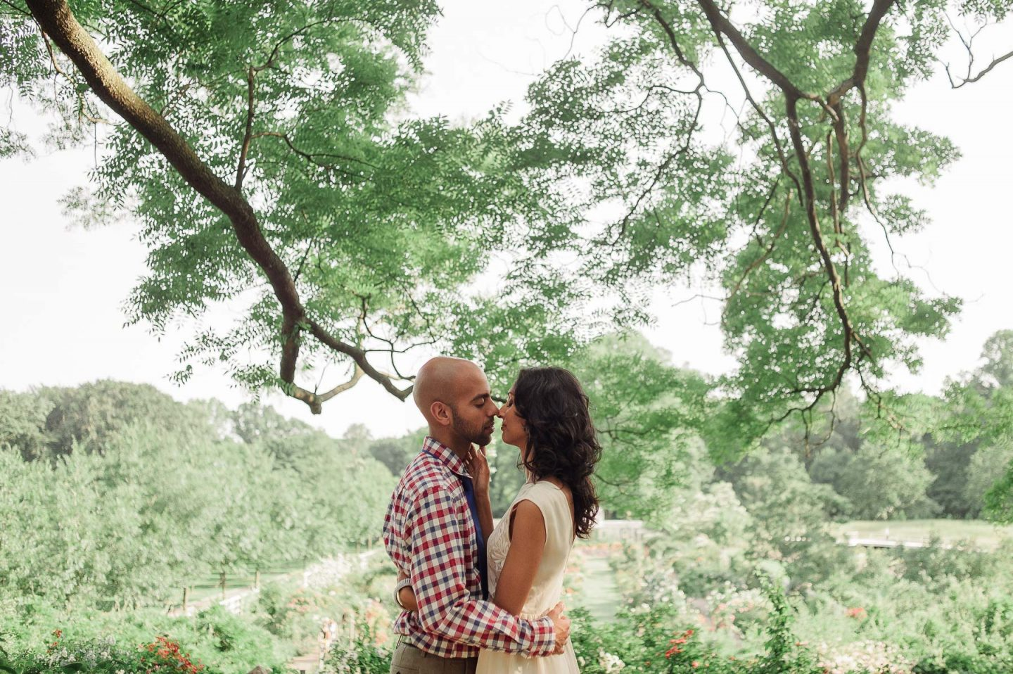 Brooklyn Botanical Garden Engagement Sessions