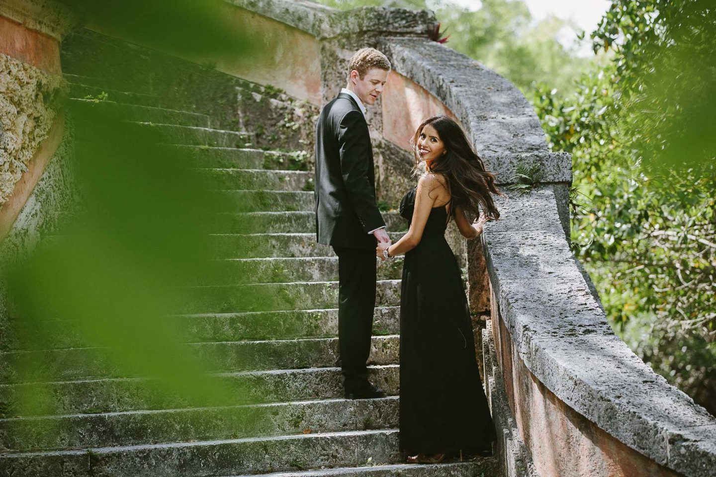 Vizcaya Museum Engagement Session Photos