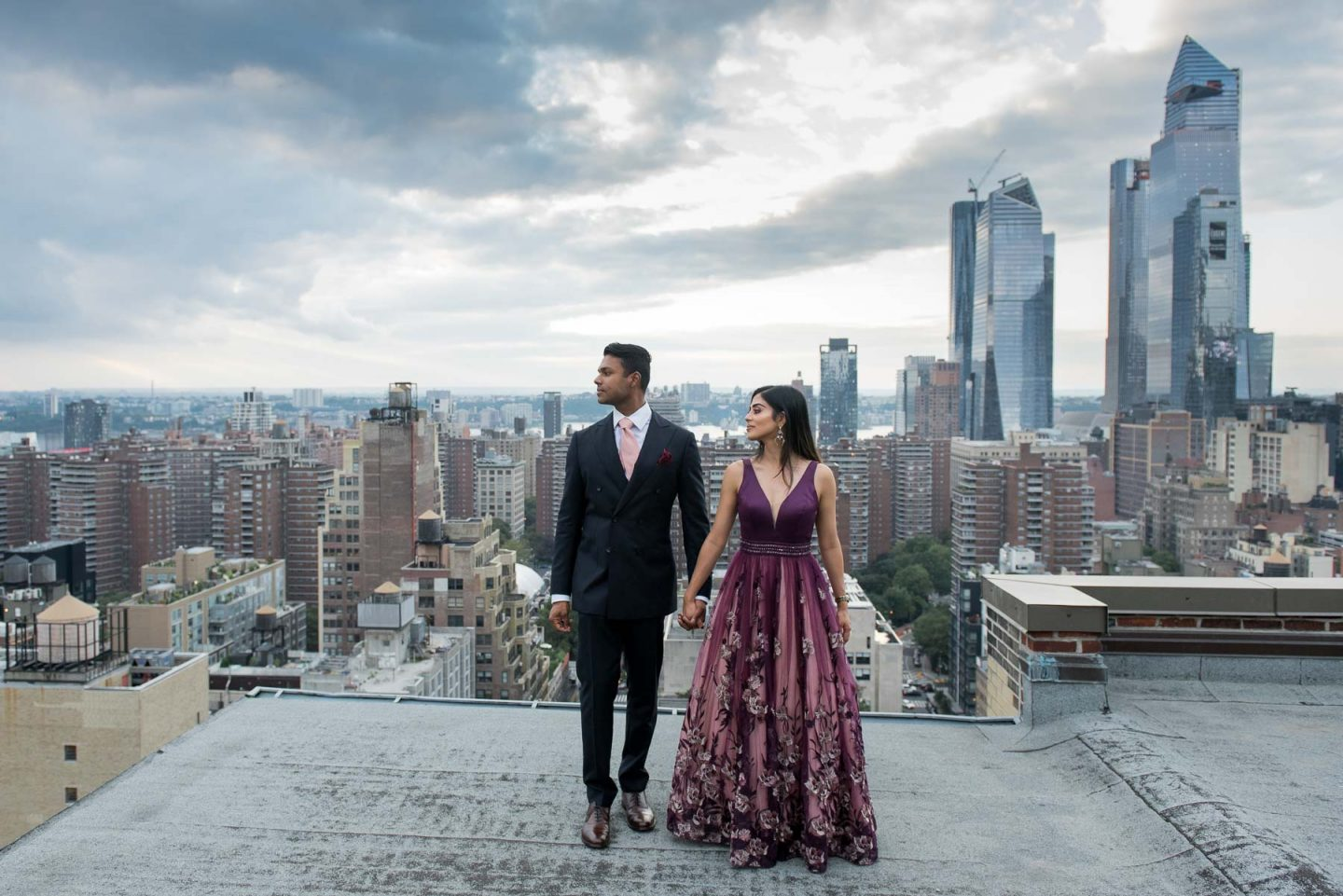 NYC Rooftop Engagement Session Photography